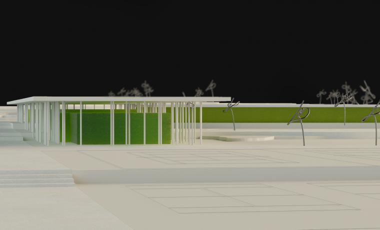 Escuela de Golf El TOYO Maqueta Bm2 Arquitectos