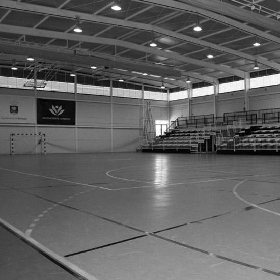 Portada Pabellón Polideportivo en Bormujos