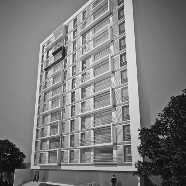Portada Edificio de 88 Viviendas en Lima