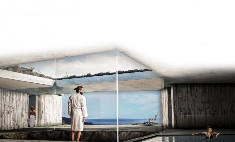 Propuesta Bm2 Arquitectos Balneario de la Fuente Santa